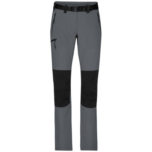 Ladies' Trekking Pants - Bi-elastische Outdoorhose in sportlicher Optik (schwarz / grau) (Art.-Nr. CA138265)