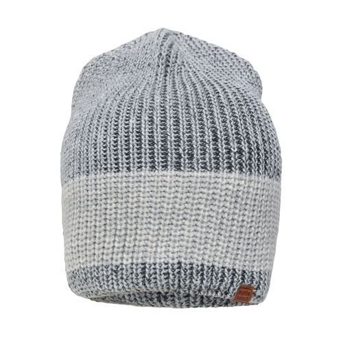 Urban Knitted Hat - Melierte Strickmütze in modischem Ripp-Design (grau) (Art.-Nr. CA146446)