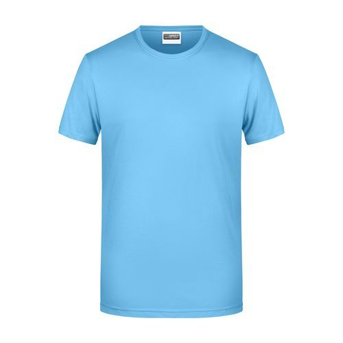 Men's Basic-T - Herren T-Shirt in klassischer Form (blau) (Art.-Nr. CA152661)
