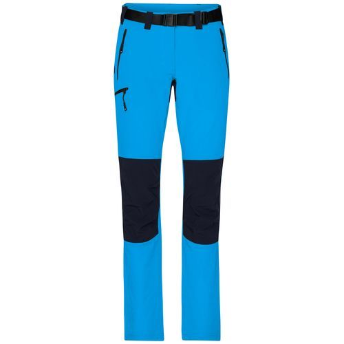 Ladies' Trekking Pants - Bi-elastische Outdoorhose in sportlicher Optik (blau) (Art.-Nr. CA153550)