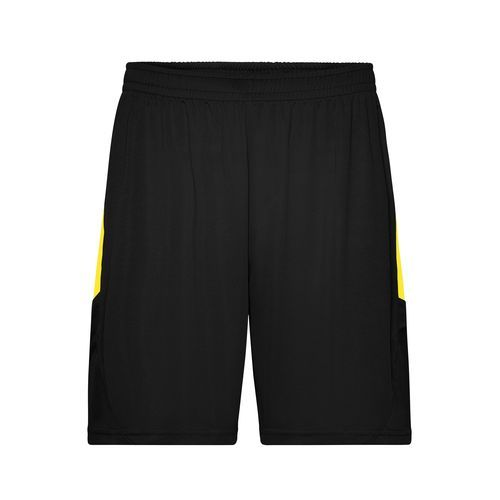 Competition Team Shorts - Funktionelle Teamshorts (schwarz / gelb) (Art.-Nr. CA158556)