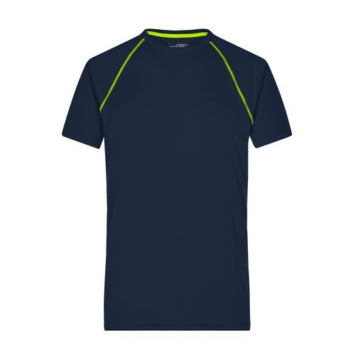 Men's Sports T-Shirt - Funktions-Shirt für Fitness und Sport (blau / gelb) (Art.-Nr. CA159101)