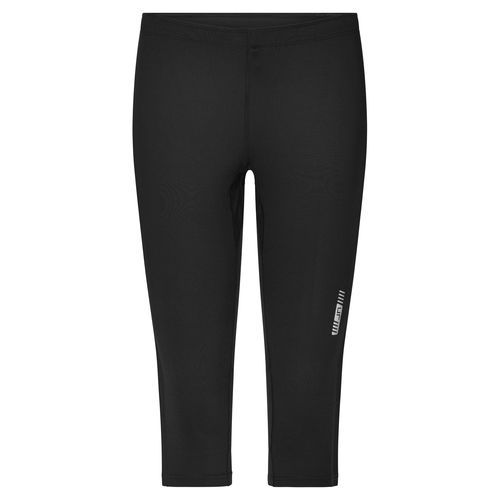 Ladies' Running Tights 3/4 - 3/4 Lauftights (schwarz) (Art.-Nr. CA165087)