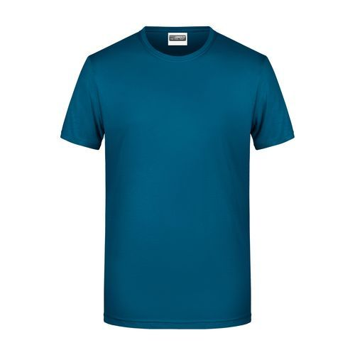 Men's Basic-T - Herren T-Shirt in klassischer Form (blau) (Art.-Nr. CA170001)