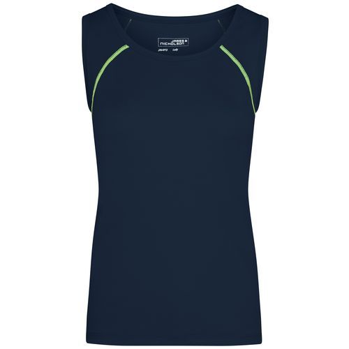 Ladies' Sports Tanktop - Funktions-Top für Fitness und Sport (blau / gelb) (Art.-Nr. CA172594)