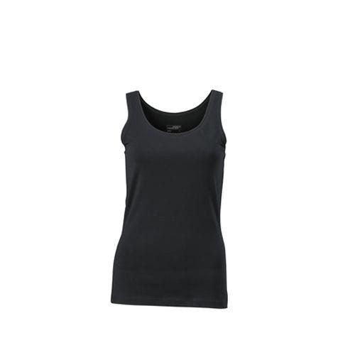 Ladies' Elastic Top - Klassiches Tank-Top (schwarz) (Art.-Nr. CA176047)
