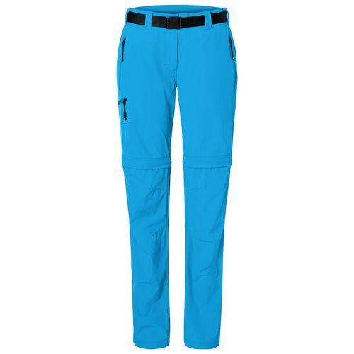 Men's Zip-Off Trekking Pants - Bi-elastische Outdoorhose in sportlicher Optik (blau / neon) (Art.-Nr. CA178039)