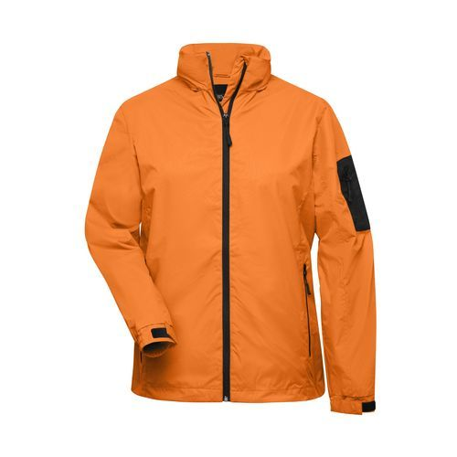 Sportliche, funktionelle Outdoor-Jacke (orange, grau) (Art.-Nr. CA182732)