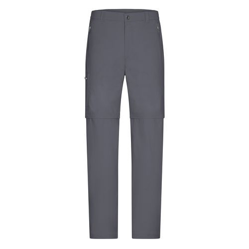 Men's Zip-Off Pants - Stretchhose, einfach zu Shorts abzippbar (grau) (Art.-Nr. CA187761)