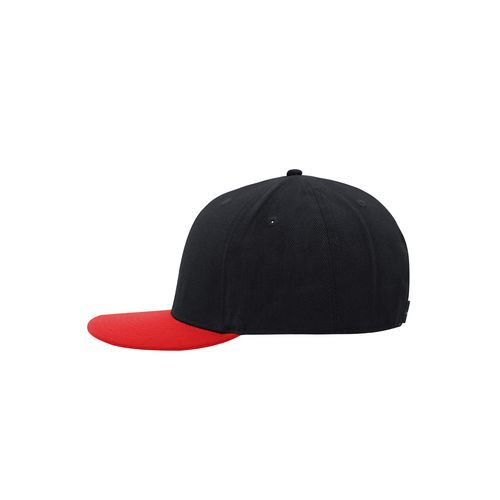 6 Panel Pro Cap Style - Cap mit Streetstyle Charakter (schwarz / rot) (Art.-Nr. CA194006)