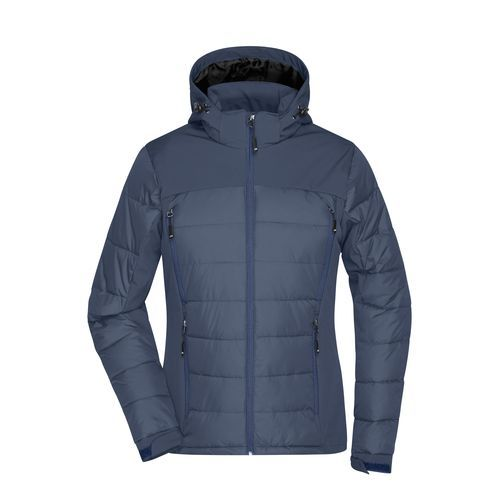 Ladies' Outdoor Hybrid Jacket - Thermojacke in attraktivem Materialmix (blau) (Art.-Nr. CA198757)