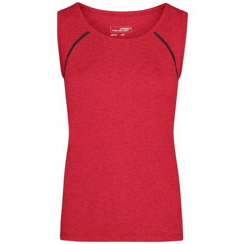 Ladies' Sports Tanktop - Funktions-Top für Fitness und Sport (rot / grau) (Art.-Nr. CA204335)