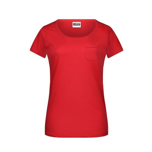 Ladies'-T Pocket - Damen T-Shirt mit modischer Brusttasche (Art.-Nr. CA220192)