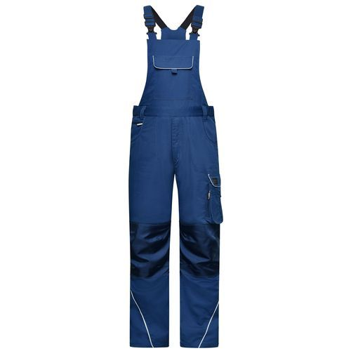 Workwear Pants with Bib - SOLID - - Funktionelle Latzhose im cleanen Look mit hochwertigen Details (blau) (Art.-Nr. CA221209)