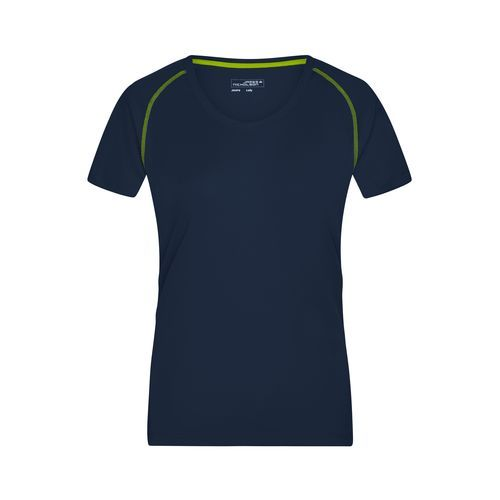 Ladies' Sports T-Shirt - Funktions-Shirt für Fitness und Sport (blau / gelb) (Art.-Nr. CA222468)