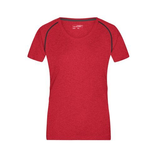 Ladies' Sports T-Shirt - Funktions-Shirt für Fitness und Sport (rot / grau) (Art.-Nr. CA245367)