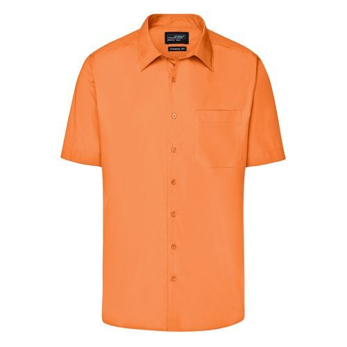 Men's Business Shirt Short-Sleeved - Klassisches Shirt aus strapazierfähigem Mischgewebe (orange) (Art.-Nr. CA258298)