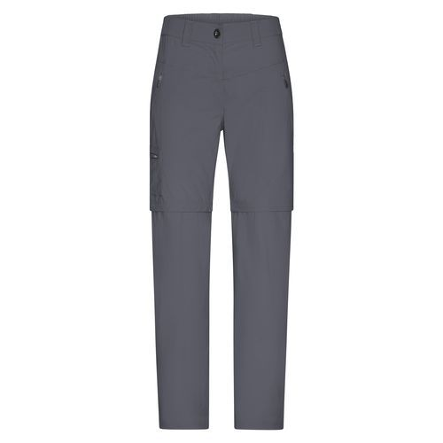 Ladies' Zip-Off Pants - Stretchhose, einfach zu Shorts abzippbar (grau) (Art.-Nr. CA258979)