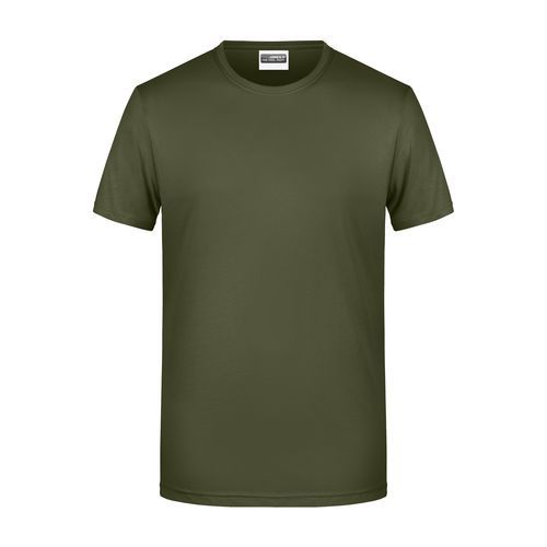 Men's Basic-T - Herren T-Shirt in klassischer Form (braun / grün / oliv) (Art.-Nr. CA273794)