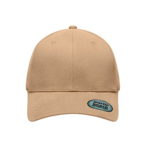 6 Panel Elastic Fit Baseball Cap - Trendiges 6 Panel Cap ohne Verschluss (braun) (Art.-Nr. CA277345)