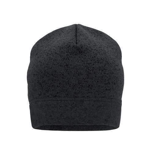 Knitted Fleece Workwear Beanie - STRONG - - Strickmütze in Melangeoptik (grau / schwarz) (Art.-Nr. CA286799)