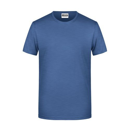 Men's Basic-T - Herren T-Shirt in klassischer Form (blau) (Art.-Nr. CA311429)
