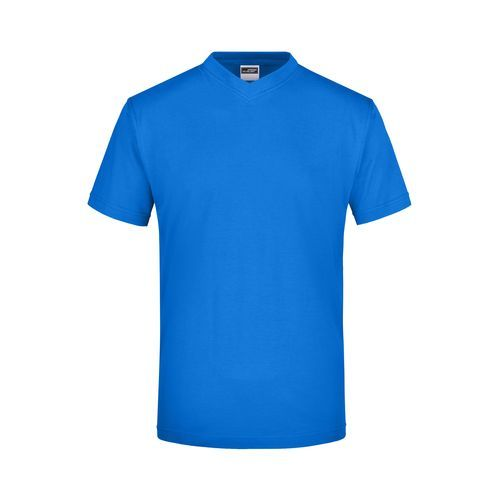 Komfort-V-Neck-T aus Single-Jersey (blau) (Art.-Nr. CA324456)
