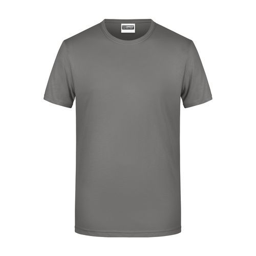 Men's Basic-T - Herren T-Shirt in klassischer Form (grau) (Art.-Nr. CA423537)