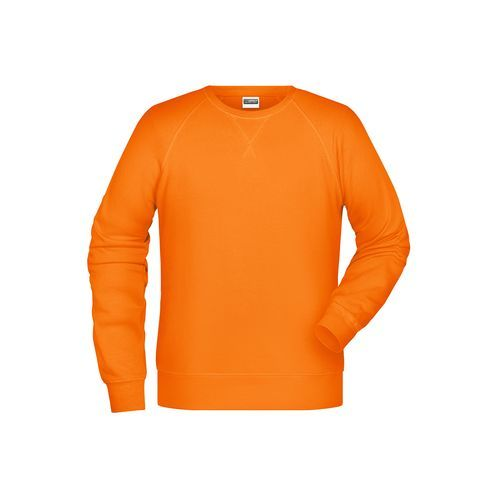 Men's Sweat - Klassisches Sweatshirt mit Raglanärmeln (orange) (Art.-Nr. CA434612)