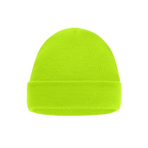 Knitted Cap for Kids - Klassische Kinder-Strickmütze (gelb / neon) (Art.-Nr. CA438929)