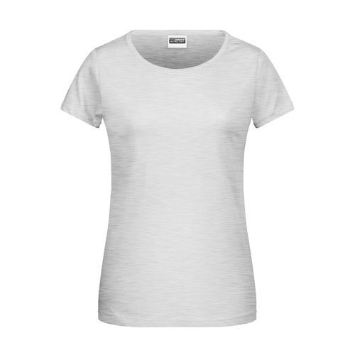 Ladies' Basic-T - Damen T-Shirt in klassischer Form (grau) (Art.-Nr. CA517773)