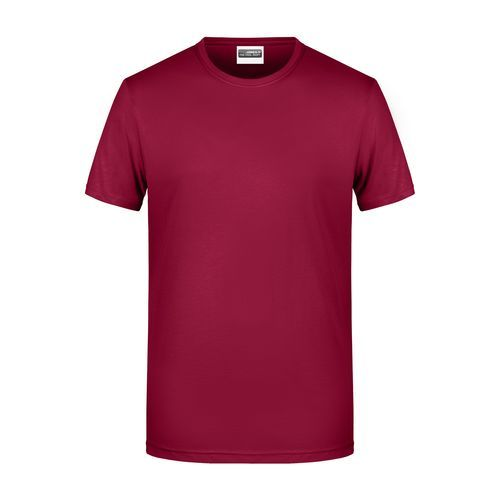 Men's Basic-T - Herren T-Shirt in klassischer Form (rot / weinrot) (Art.-Nr. CA520226)