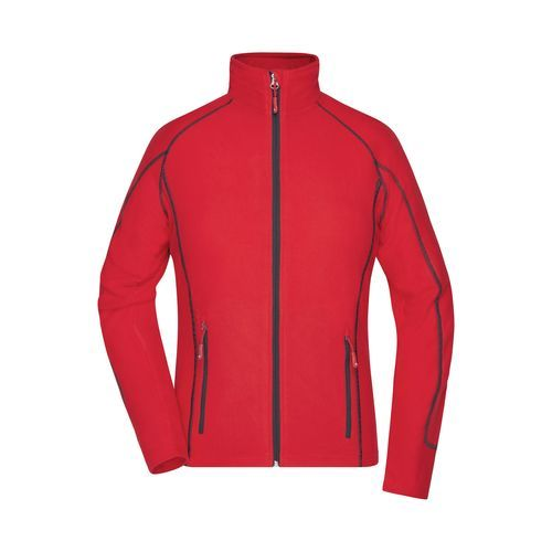 Ladies' Structure Fleece Jacket - Leichte Outdoor-Fleecejacke (rot / grau) (Art.-Nr. CA526653)