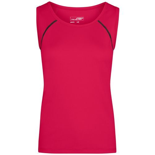 Ladies' Sports Tanktop - Funktions-Top für Fitness und Sport (pink/grau/neon) (Art.-Nr. CA551133)