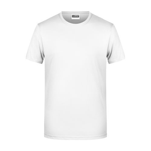 Men's Basic-T - Herren T-Shirt in klassischer Form (weiß) (Art.-Nr. CA552238)