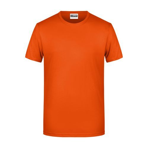 Men's Basic-T - Herren T-Shirt in klassischer Form (orange) (Art.-Nr. CA565820)
