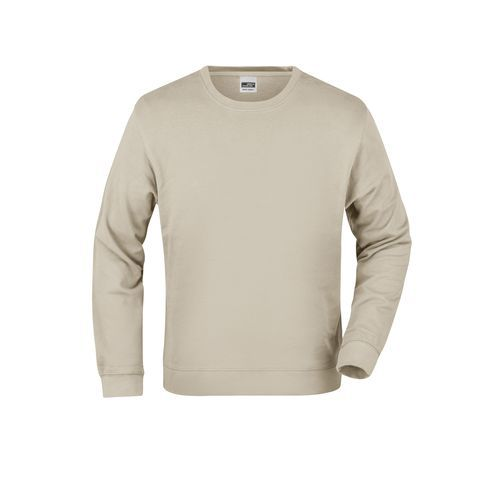 Basic Sweat - Klassisches Sweatshirt aus French-Terry (braun / grau) (Art.-Nr. CA609272)