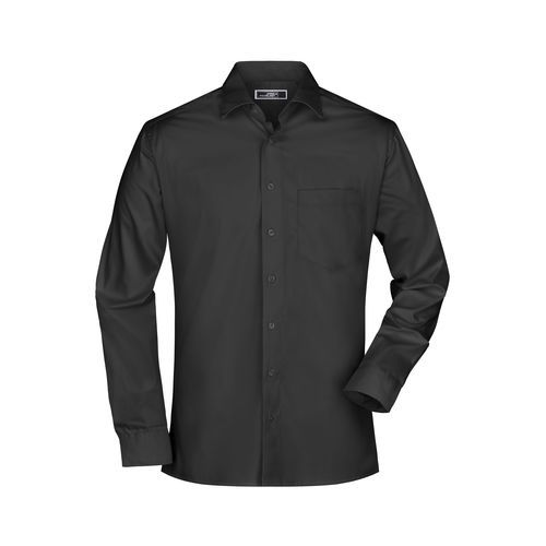Men's Business Shirt Long-Sleeved - Bügelleichtes, modisches Herrenhemd (schwarz) (Art.-Nr. CA612273)