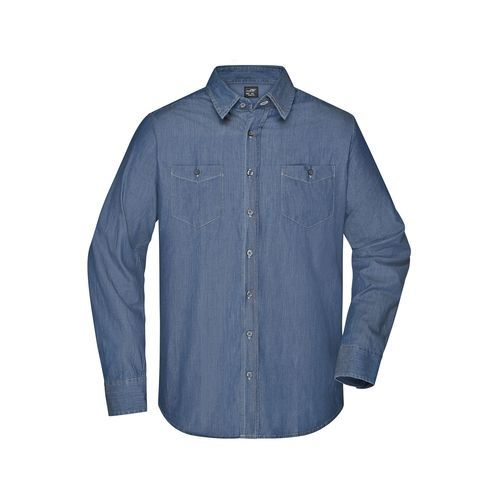 Men's Denim Shirt - Trendiges Jeanshemd (blau) (Art.-Nr. CA629805)