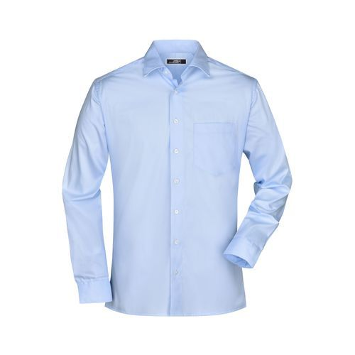 Men's Business Shirt Long-Sleeved - Bügelleichtes, modisches Herrenhemd (blau) (Art.-Nr. CA646548)