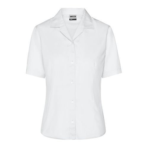 Ladies' Business Blouse Short-Sleeved - Bügelfreie, modische Damenbluse (weiß) (Art.-Nr. CA659377)