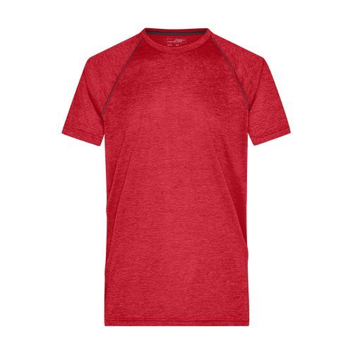 Men's Sports T-Shirt - Funktions-Shirt für Fitness und Sport (rot / grau) (Art.-Nr. CA670506)