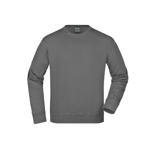 Workwear Sweat - Klassisches Rundhals-Sweatshirt (grau) (Art.-Nr. CA682764)