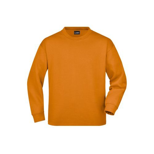 Round Sweat Open Hem - Sweatshirt mit Rundhalsausschnitt (orange) (Art.-Nr. CA683883)