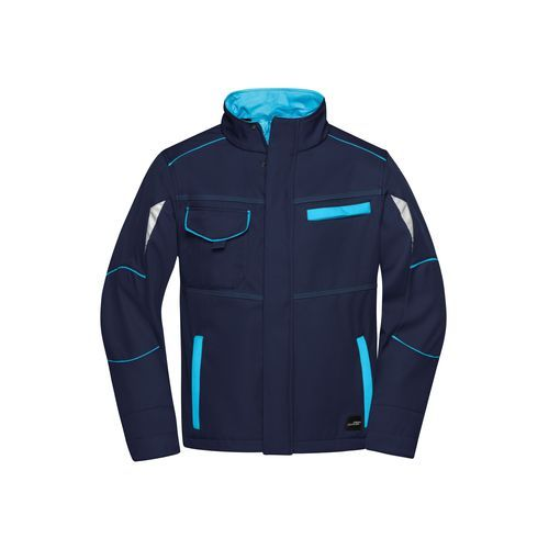 Workwear Softshell Jacket - COLOR - - Funktionelle Softshelljacke mit hochwertiger Ausstattung (blau) (Art.-Nr. CA703294)