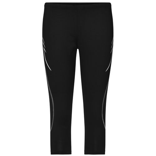 Ladies' Running 3/4 Tights - ¾ Lauftights (schwarz) (Art.-Nr. CA704292)