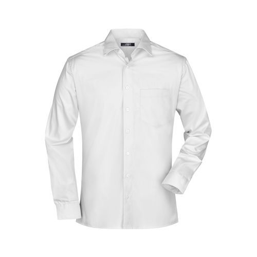 Men's Business Shirt Long-Sleeved - Bügelleichtes, modisches Herrenhemd (weiß) (Art.-Nr. CA718711)