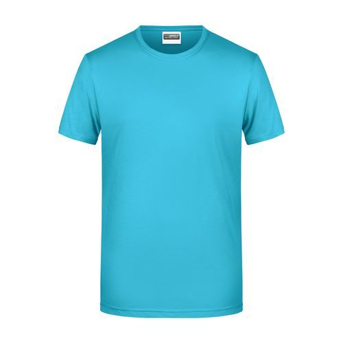 Men's Basic-T - Herren T-Shirt in klassischer Form (blau) (Art.-Nr. CA753283)