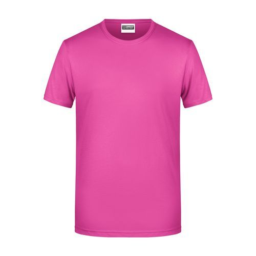 Men's Basic-T - Herren T-Shirt in klassischer Form (pink) (Art.-Nr. CA786101)