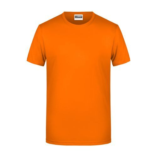 Men's Basic-T - Herren T-Shirt in klassischer Form (orange) (Art.-Nr. CA926279)